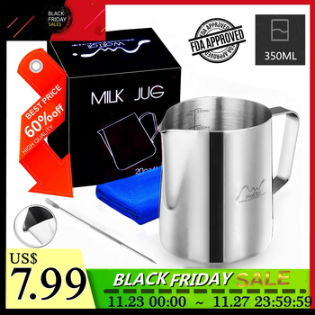 Stainless Steel Milk Frothing Pitcher Espresso Coffee Barista Craft Latte Cappuccino Milk Cream Frother Cup Pitcher Jug Maker