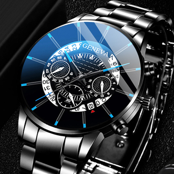 цена Relogio Masculino 2020 Men's Fashion Business Watches Men Casual Calendar Clock Male Stainless Steel Quartz Watch Montre Homme онлайн в 2017 году