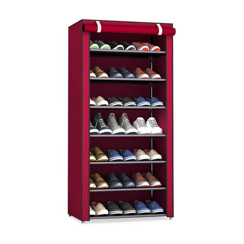 Nicht-woven Stoff Schuh Rack Flur Schrank Veranstalter Halter Montieren Schuhe Regal DIY Home Möbel