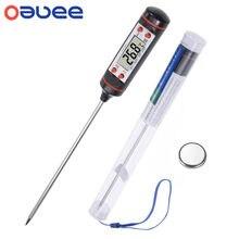 Thermomètre électronique numérique pour BBQ, lecture instantanée, four, outils, sonde, pour usage domestique, longue sonde,-50 à 300 °c