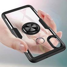 Luxury Transparent Finger Ring Cases For Xiaomi Mi 9 Mi9 8 SE Mi8 Shockproof Hard Phone Back Cover Redmi Note 5 Pro