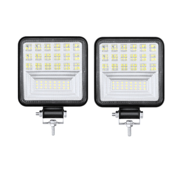 Mini car led work light 126w square led off-road vehicle truck lights spotlight LED light bar 6000k White light