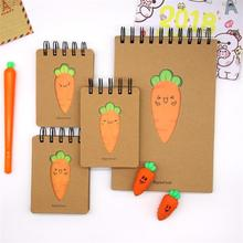 TOPSTHINK A5/A7 sketchbook Diary Drawing Painting Graffiti creative cute carrot coil notepad students portable notebook скетчбук sketchbook creative graffiti 80л 21х21