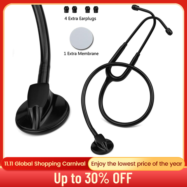 Professional Doctor Medical Stethoscope Heart Lung Cardiology Single Head Stethoscope Nurse Student Vet Medical Equipment Device