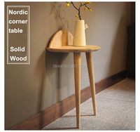 2019 New Nordic style corner table Creative design Coffee Table solid wood Side table Modern Furniture for Bedroom Living Room