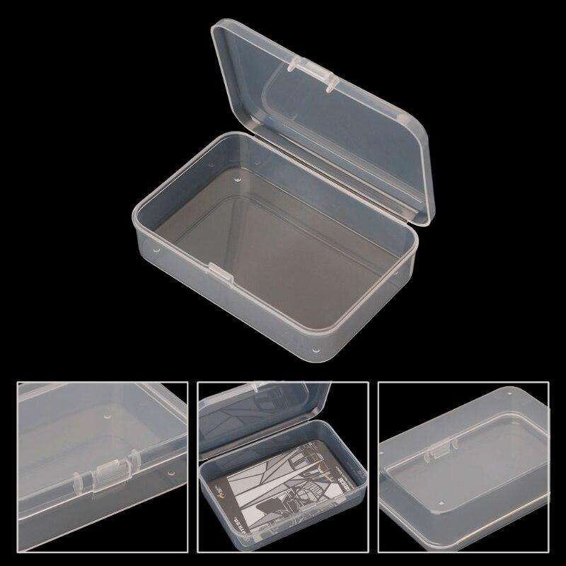 Small Transparent Plastic Storage Boxs Clear Square Multipurpose Display Case