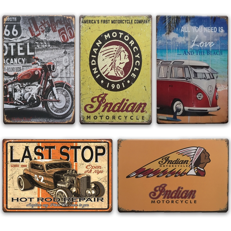 Historic Route 66 Vintage Metal Novelty License Plate Tag
