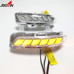 Image 1 - Dinamik dönüş sinyal ışığı park su birikintisi LED yan ayna sıralı göstergesi Toyota Land Cruiser için LC200 FJ200 Prado FJ150