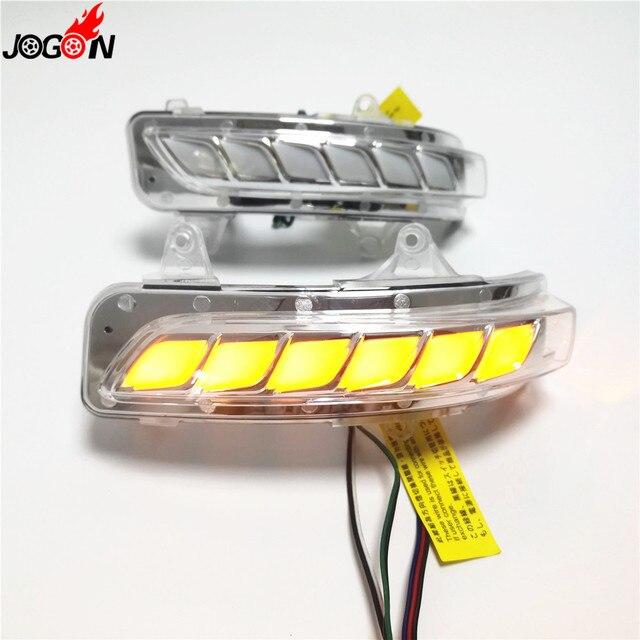 Dinamik dönüş sinyal ışığı park su birikintisi LED yan ayna sıralı göstergesi Toyota Land Cruiser için LC200 FJ200 Prado FJ150