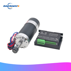500W Brushless Spindle Motor Air Cooled Spindle ER11 55MM Bracket DC 48V Machine Tool Router For CNC Milling Engraver Machine
