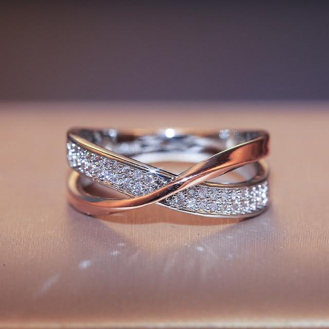 beautiful two-tone criss-cross diamonelle ring 4