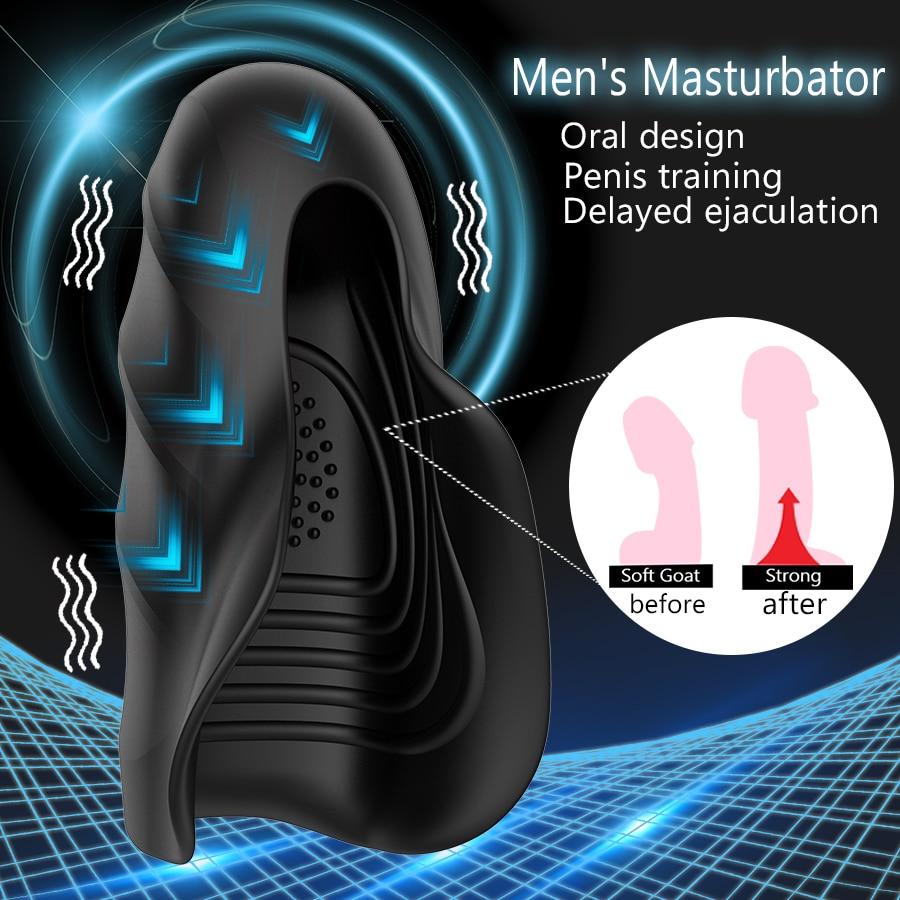 Мужской мастурбатор HWOK, вибратор, тренажер задержки эякуляции, оральная климакса, массажер, киска, секс-игрушки для мужчин