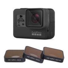 فوتوفلي Hero5/6/7 كاميرا تصفية CPL/UV/ND 4 8 16/الأحمر/أرجواني/الأصفر مرشحات ل GoPro بطل 5 6 7 الأسود عمل ملحقات الكاميرا