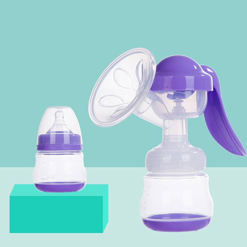 Manual Breast Feeding Pump Powerful Baby Nipple Suction With  Milk Bottles Breasts Pumps Bottle Sucking Postpartum Supplies