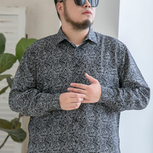 Brand Shirt Flower-Print Long-Sleeve 10XL Large-Size Casual Men's Fashion 6XL 9XL 8XL