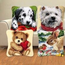 Серия «животные» защёлки Наборы собак 3D сегмент Вышивка Подушка шерсть крестиком вышивка гладью Подушка DIY knooppakket