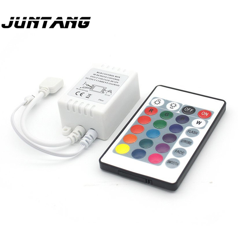 <font><b>24</b></font> key RGB controller DC12V IR infrared LED light with light bar dimming controller wireless RF remote control 100mm * <font><b>70mm</b></font> image
