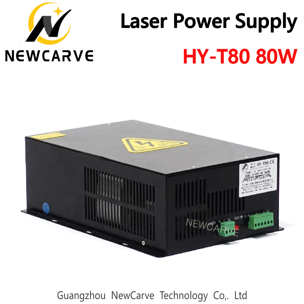 HY-T80 80W CO2 Laser Power Supply For 80W Laser Tube Laser Cutting Machine NEWCARVE