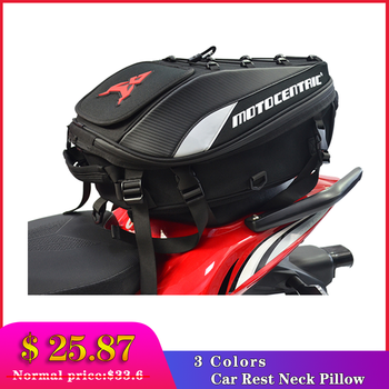 $ US $25.20 New Waterproof Motorcycle Tail Bag Multi-functional Durable Rear Motorcycle Seat Bag High Capacity Motorcycle Rider Backpack