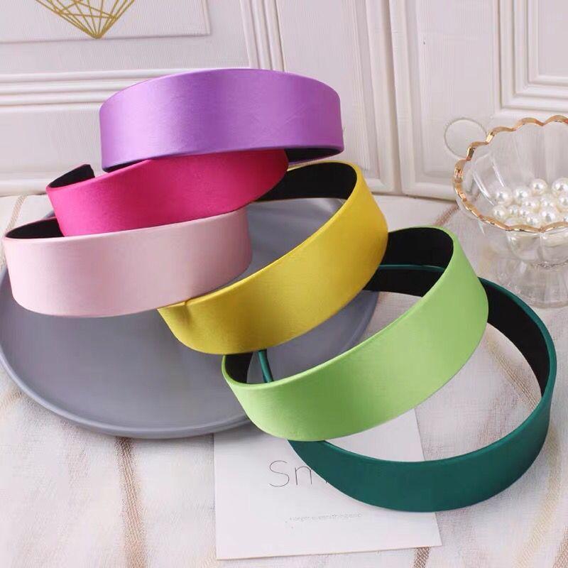 Haimeikang Novelty Shiny Hair Band Solid Color Headband For Women Fashion Customized Headbands Simple Headwear Accessories
