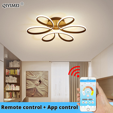 Candelabro LED moderno para sala de estar, dormitorio, comedor, cuerpo de aluminio, atenuación, iluminación del hogar, Blanco/Negro/café