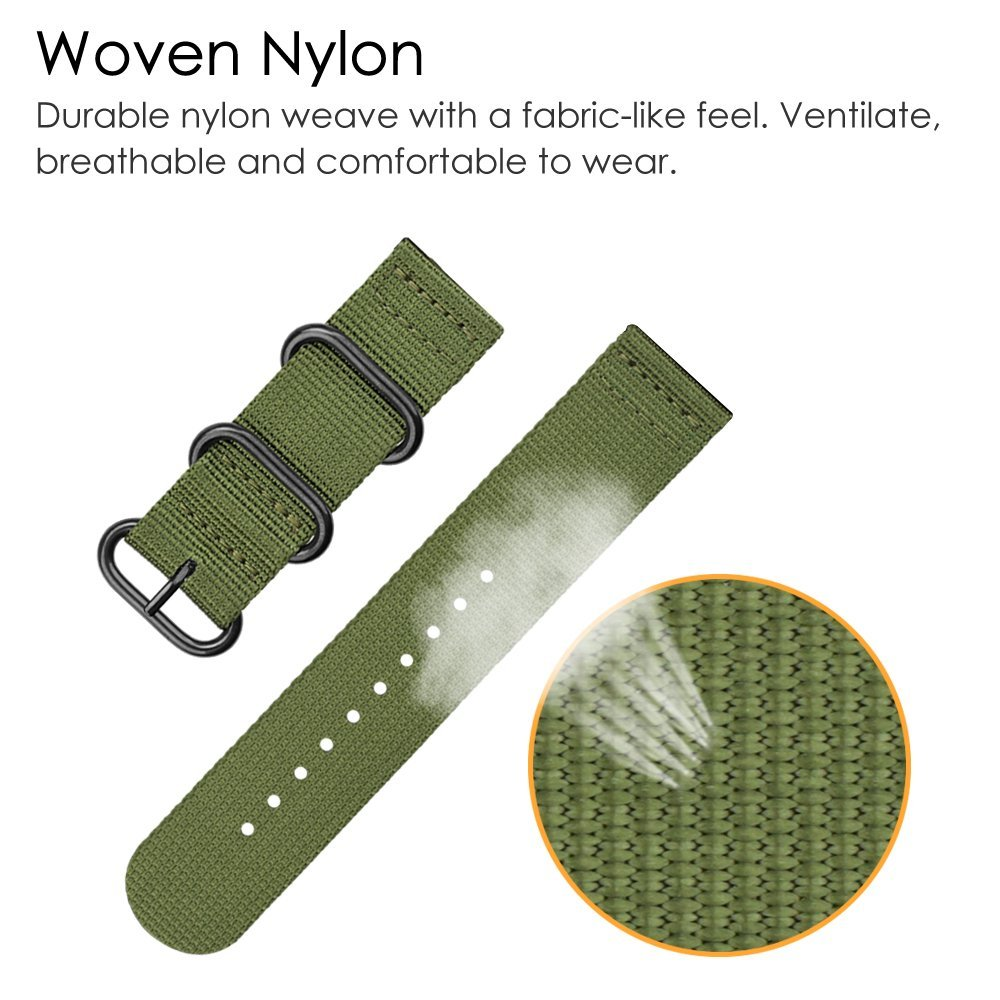 Fashion Watch Band Sport Woven Nylon 24mm Universal Watch Band 22mm 20mm 18mm Strap For Gear S3 Gear S2 Classic Galaxy Watch in Smart Accessories from Consumer Electronics