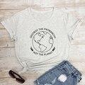Zerstören Die Patriarchat Nicht Die Planeten T-shirt Lustige Frauen Feministischen T-shirt Casual Sommer Grafik Ethischen Vegan Top T Shirt