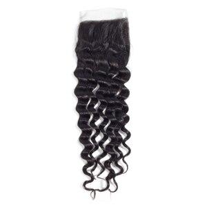 Image 5 - Miss Rola волосы малазийские глубокая волна 3 пряди с закрытием натуральный цвет 100% человеческие волосы 8 26 дюймов не Remy волосы для наращивания