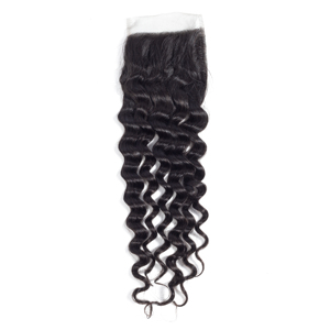 Image 5 - Miss Rola Hair Malaysian Deep Wave 3 Bundles With Closure Natural Color 100% Human Hair 8 26 Inches Non Remy Hair Extensions