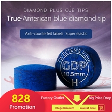 SuperGold Diamond Blue Tip Excellent Pool Cue Tip  Billiards Accessories with Authentic American Blue Diamond Logo цена