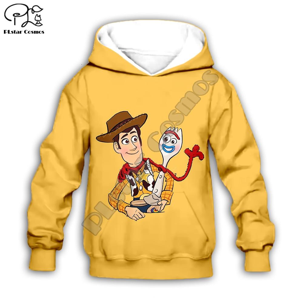 Kids Forky And Woody Print Toy Story 4 Girls 3d Hoodies Set/t Shirt/boy Sweatshirt Shorts Sherif Cartoon Buzz Lightyear Pants
