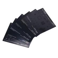 Black Steel BGA Reballing Stencil Kit for iPhone 11 11Pro XS XS MAX X 8P 8 7P 7 6S 6 IC Chip Tin Planting Soldering Net