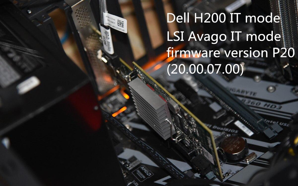 Used Original Dell H200 PERC SAS SATA 6Gb PCI-e  8-Port Raid Controller=9210 9211-8i 047MCV DELL H200 P20 IT Mode