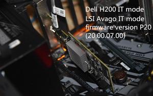 Used original Dell H200 PERC SAS SATA 6Gb PCI-e 8-Port Raid Controller=9210 9211-8i 047MCV DELL H200 P20 IT mode(China)