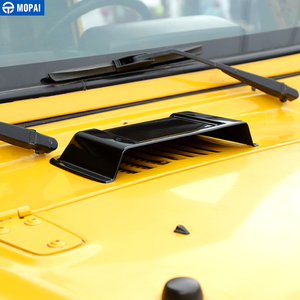 Image 5 - MOPAI Adesivi Per Auto per Jeep Wrangler TJ di Aspirazione Aria Auto Hood Scoop Vent Copertura Della Protezione Scudo Pioggia per Jeep Wrangler TJ JK 1997 2017