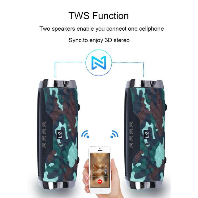 High Power 40W speaker Wireless Bluetooth Speaker Portable Outdoor som Boom box music senter With Phone Holder column 2
