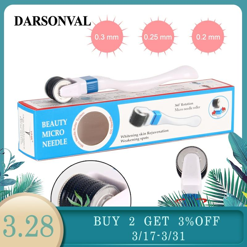 DARSONVAL 600 Micro Needles Derma Roller Titanium Mezoroller Microneedle 360 Degree Rotation Skin Care And Body Treatment