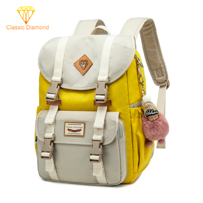 New Waterproof Campus Backpacks Junior School Bags For Teenage Girls Backpack Student Children Bag Nylon Concise Laptop Bagpack