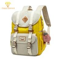 New Waterproof Campus Backpacks Junior School Bags For Teenage Girls Backpack Student Children Bag Nylon Concise Laptop Bagpack