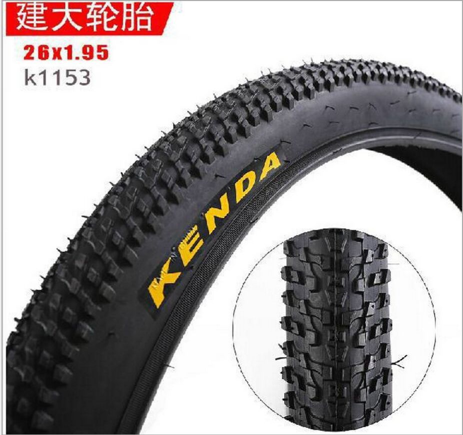 Bicycle Outer Tyre <font><b>24</b></font> 26*<font><b>1.95</b></font> Mountain Tire Bicycle Tire New Little Eight Block Tire image