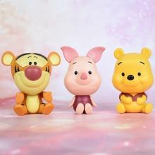 Juegos de películas de muñecas de Disney Winnie the pooh Piglet pig Tigger 3 unids/set colección MODELO DE figura de acción para niños regalos