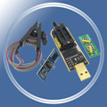 CH341 CH341A USB программатор с SOP8 SOP8 SOP тестовый Зажим IC socket программатор поддержка многих 24/25XX SPI флэш-чип EEPROM