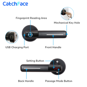 Image 4 - Biometric Fingerprint Door Lock Intelligent Electronic Lock For Home and Office Security With Mechanical key