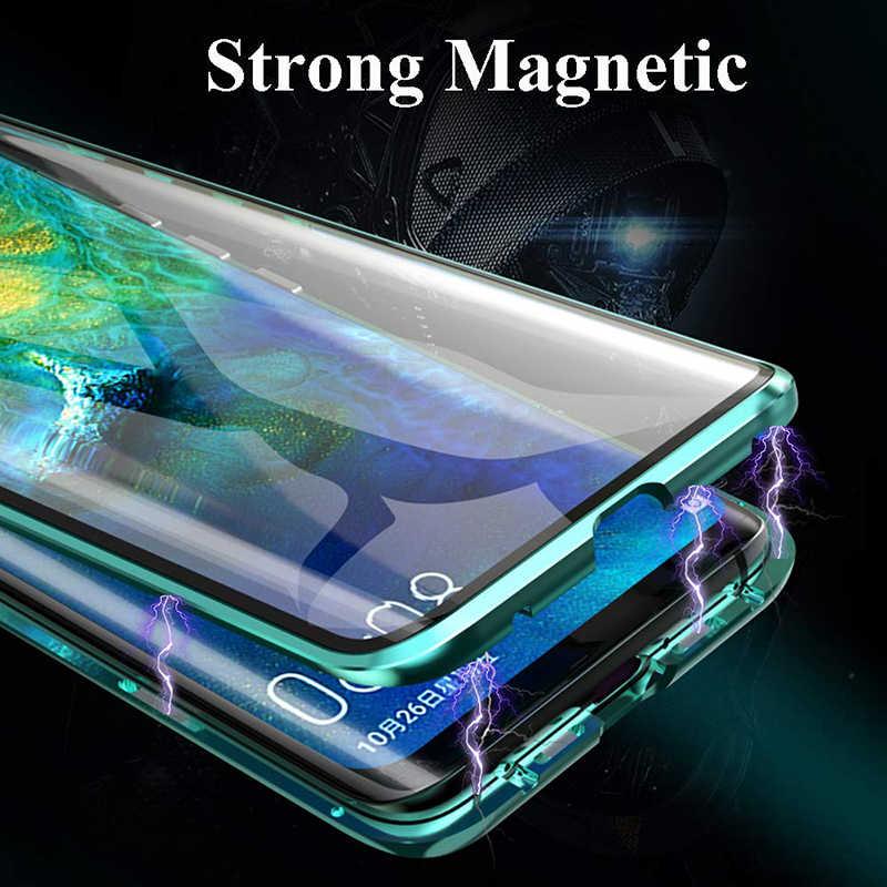 فاخر 2nd المغناطيسي الوجه حالات لهواوي الشرف 8X الجبهة الخلفية مزدوجة الوجهين الزجاج المقسى 360 صدمات غطاء الهاتف Honor 8X 8 X