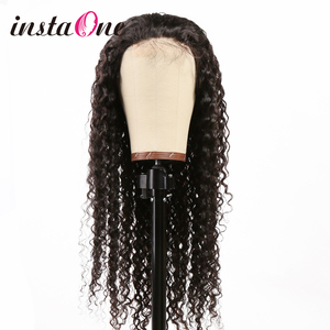 28 30 Inch Ombre Colored 13x4 Curly Lace Front Human Hair Wigs Deep Wave Frontal Wig Pre plucked For Black Women Remy Water Wave(China)