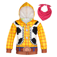 AmzBarley Toddler boy Outerwear Woody Costumes kids hooded sweatshirt Autumn clothes Boys Cowboys Halloween cosplay outfits