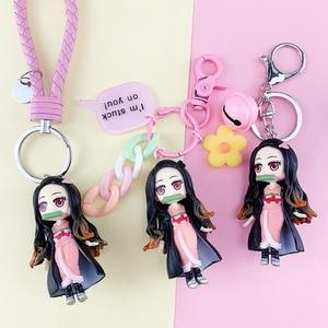 Demon Blade Keychain Anime Demon Slayer Keychain Cute Blade Of Ghost PVC Key Chain Keyring Pendant
