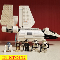 In Stock 05147 Star Wars Series Imperial Landing Craft Shuttle Pilot Sandtrooper Building Blocks 712pcs Bricks Compatible 75221