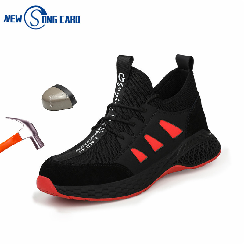 Work Safety Shoes Woman And Men's Be Applicable Outdoor Steel Toe Anti Smashing Protective Anti-slip Puncture Proof Safety Boots