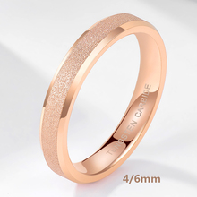 цена TIGRADE Tungsten Carbide Rose Gold Frosted Ring 4mm 6mm For Women Men Wedding Engagement Band Matte Brushed Female anillos mujer онлайн в 2017 году